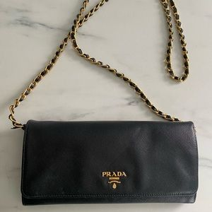 Authentic PRADA Saffiano Leather Wallet/Purse